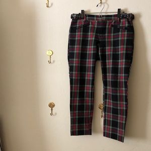 Plaid true skinny pants by Gap